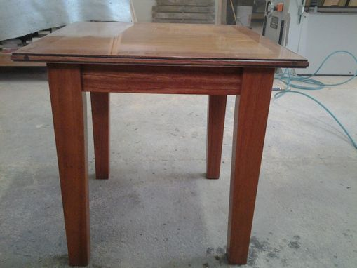 Custom Made Brazillian Cherry End Table With Glazing