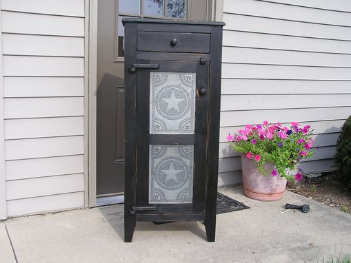 Custom Made Primitive Tin Front Pie Safe (2 Panel)