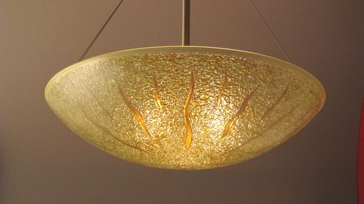 Custom Made Sunburst Bowl Light