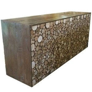 Custom Made Tree Slice Bar