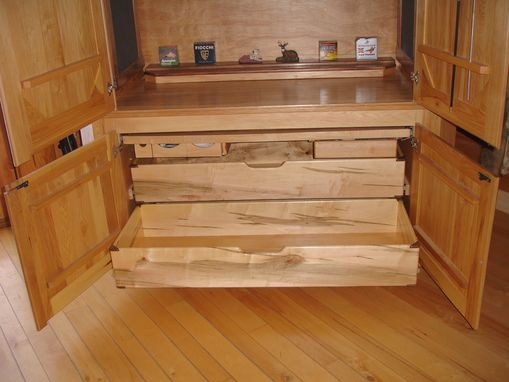 Custom Made Entertainment Center / Concealed Gun Cabinet/ Bar