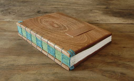 Custom Made Wedding Guest Book - Mahogany Wood Book - Journal