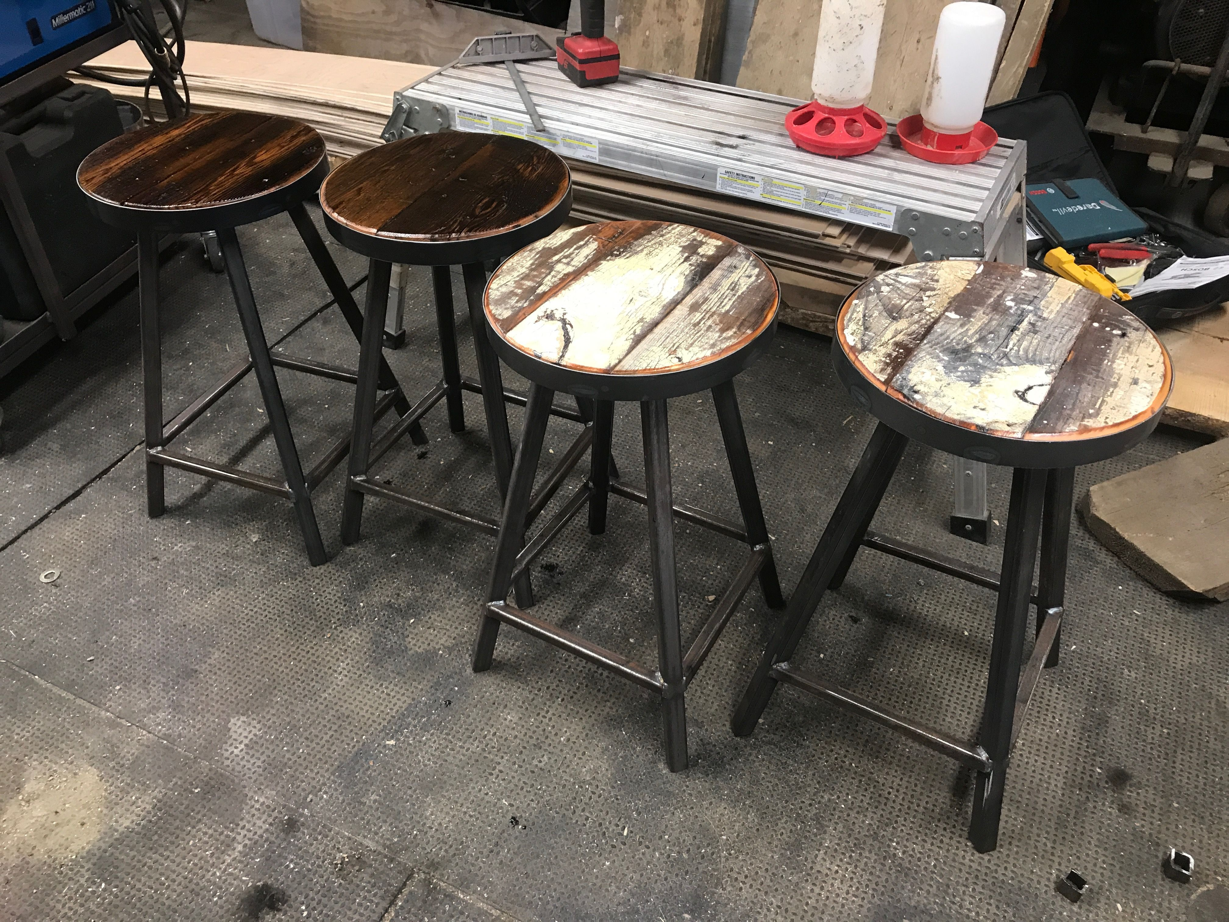 Industrial Counter Stools