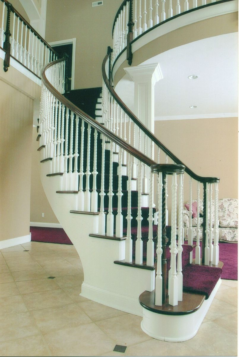 Custom made contemporary curved stair by timber arts for Custom stair