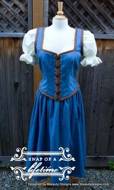 Custom Made Belle Once Upon A Time Peasant Dress A Inspired Costume Adult Screen Quality Emilie De Ravin