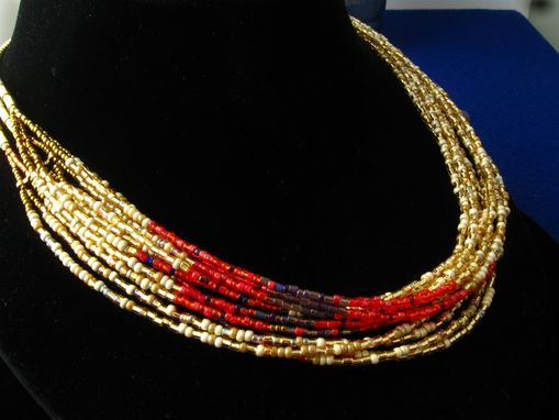 Custom Made Multistrand Themed Seed Bead Necklaces.