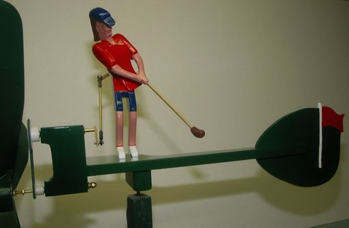 Custom Made Female Golfer Whirligig