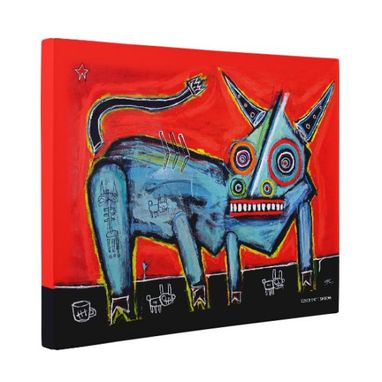 Custom Made Bull Canvas Wall Art By Matt Sesow
