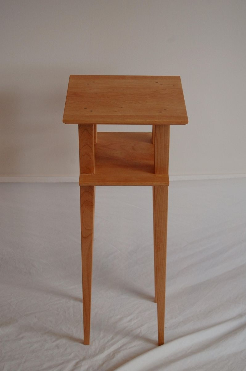 reputable site 8dc14 9447e Cherry Asian Side Table With Shelf