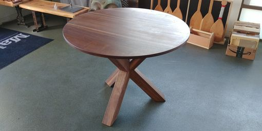 "Custom Made Dustin's ""Tricky Tripod 2.0"" Solid Walnut Dining Table"