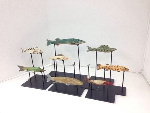 Custom Made Antique Fish Stands
