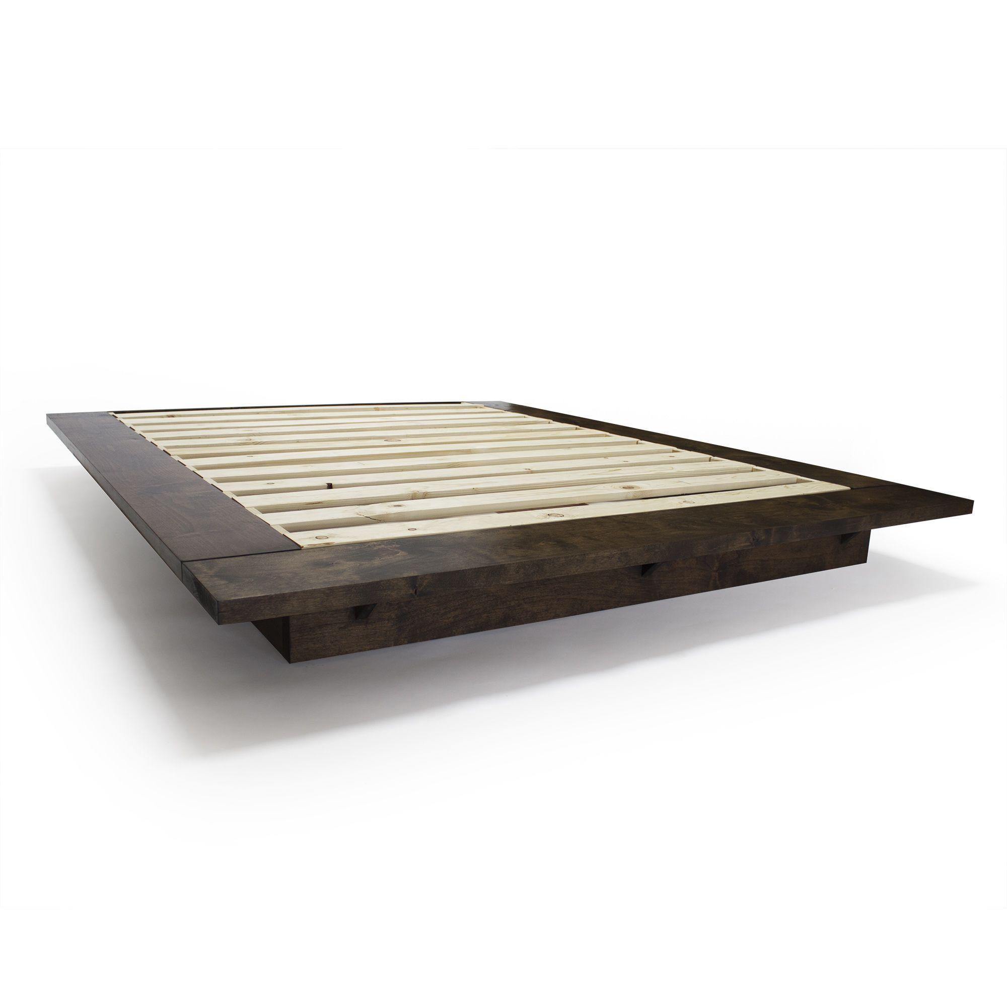 Buy a handmade modern floating platform bed frame made to for Custom made bed frame