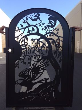 Custom Made Metal Gate Steel Eagle Fairies Home Pedestrian Walk Thru Iron Garden