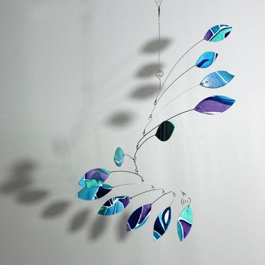 Custom Made Custom Art Mobile Jabberwocky Blue Wave Hanging Mobile Art - Custom Order Deposit