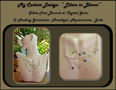 Custom Made Lilacs In Bloom,Statement Jewelry,Fashion Jewelry,Summer Jewelry, Zen,Healing Jewelry,Nature Jewelry