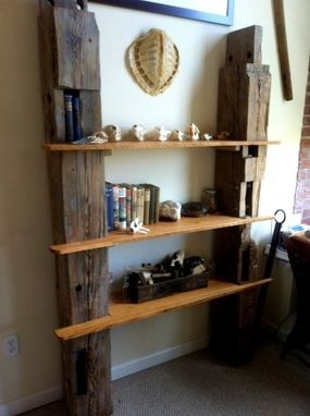 Custom Made Reclaimed Barn Wood Shelving