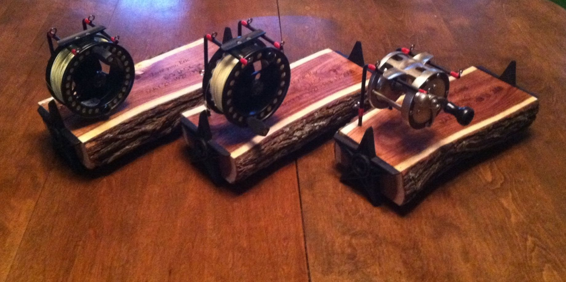 Hand Crafted Eric Luna S Fly Reel Displays By Bc Creative