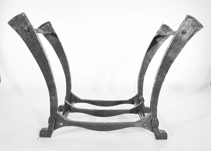 Hand Made Forged Log Rack By Steve Fontanini Blacksmith