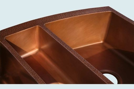 Custom Made Copper Sink With Curved Apron & Hammering