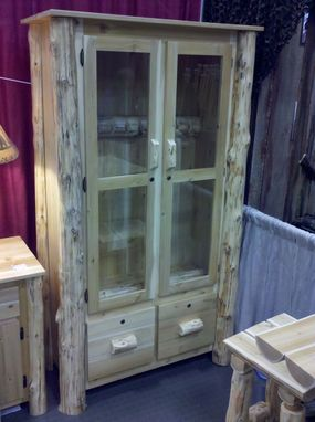 Custom Made Log Gun Cabinet