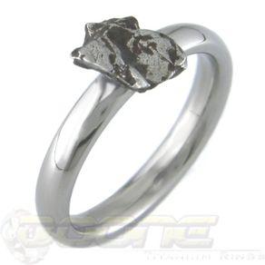 meteorite solitare - Meteorite Wedding Rings