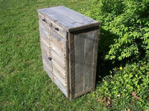 Custom Made Weathered Reclaimed Barnwood Cabinet