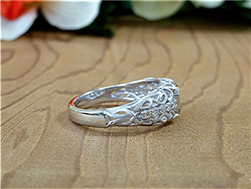 Custom Made Filigree 0.56ct. Diamond Ring