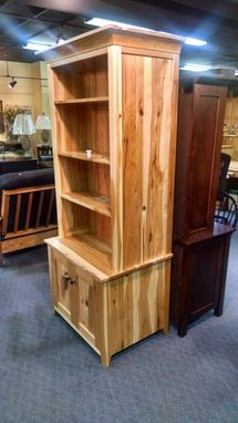 Buy a Hand Made Hidden Gun Cabinet Bookcase, made to order from ...