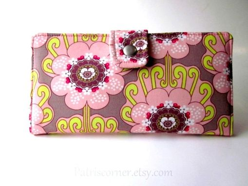 Custom Made Handmade Women Wallet Contempo Blooms In Chic Pink