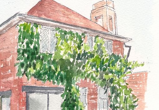 Custom Made Example House Portrait; Small Watercolor Painting