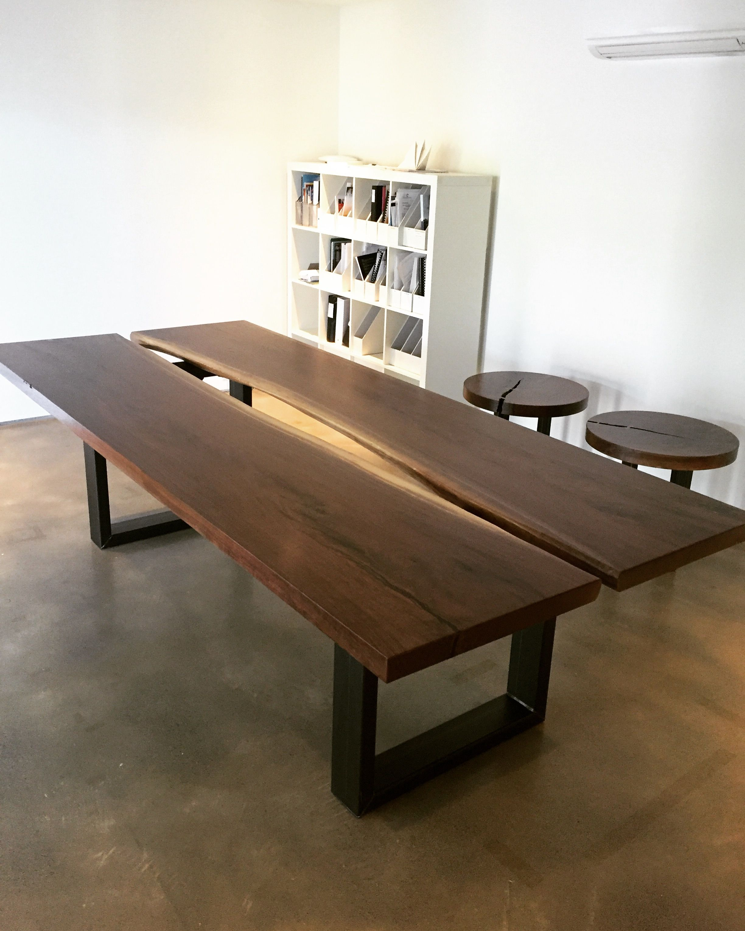 Custom Live Edge Conference Table By