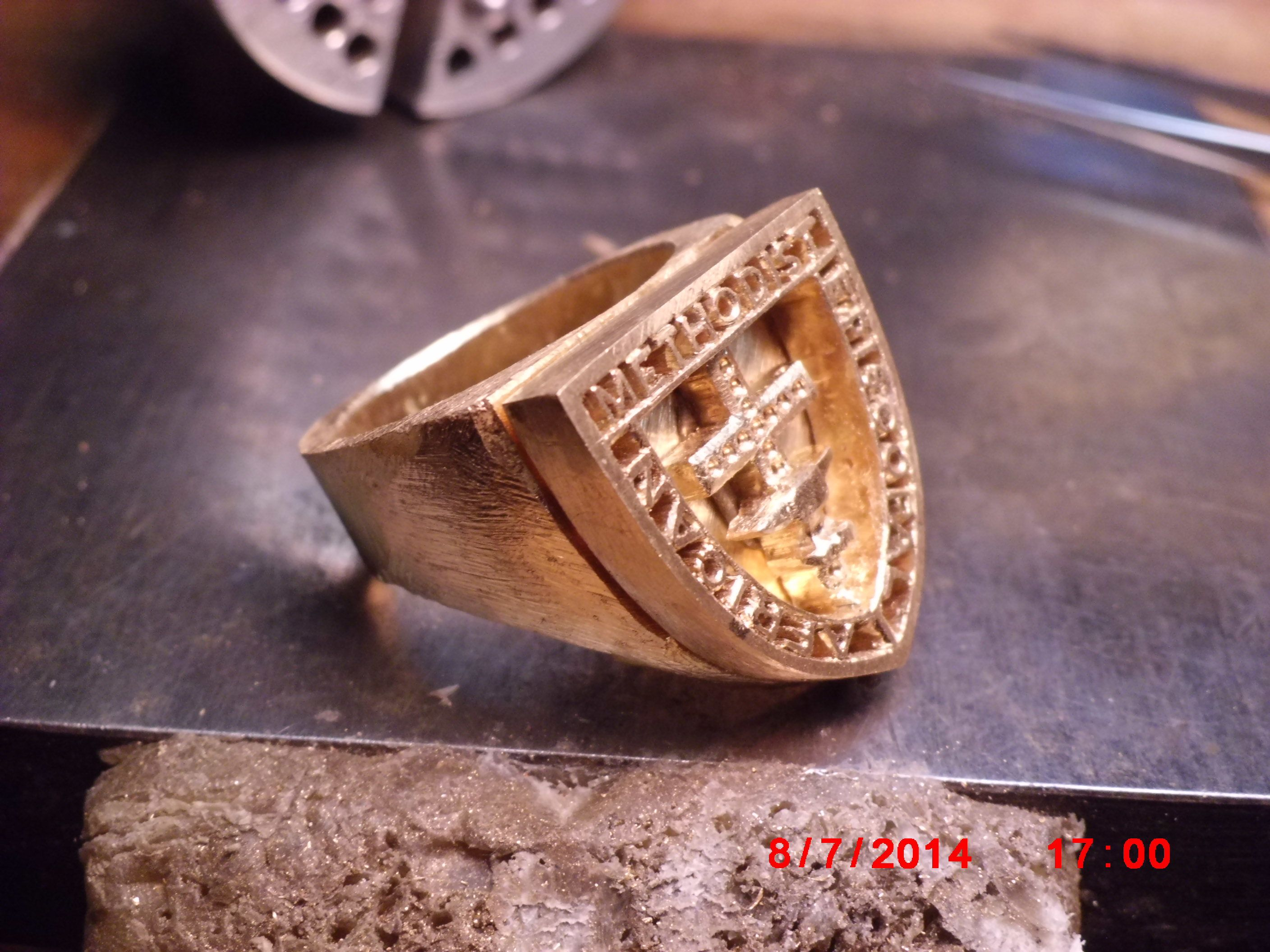ring karat diamond ken by spencer cross gold studio shield w cr kenspencer goldsmith gent shape custom custommade com s gents
