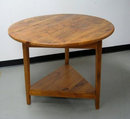Custom Made Drop Leaf Round End Table
