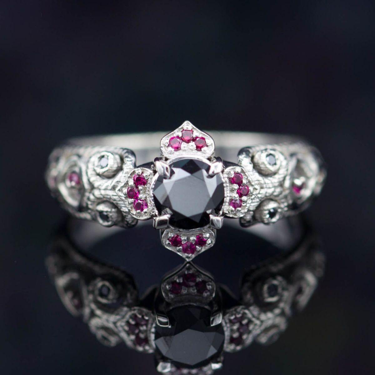 Black Diamond Engagement Rings | CustomMade.com