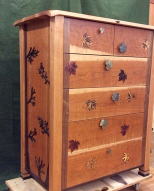 Custom Made Dresser, With Leaf Inlay
