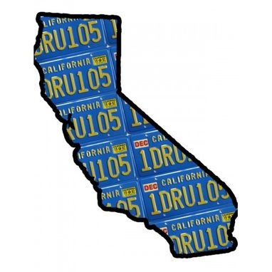 Custom Made State Of California Map