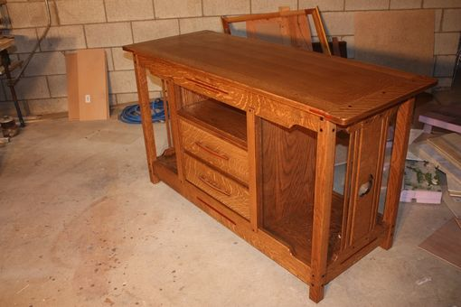 Custom Made Greene & Greene Style Entertainment Center