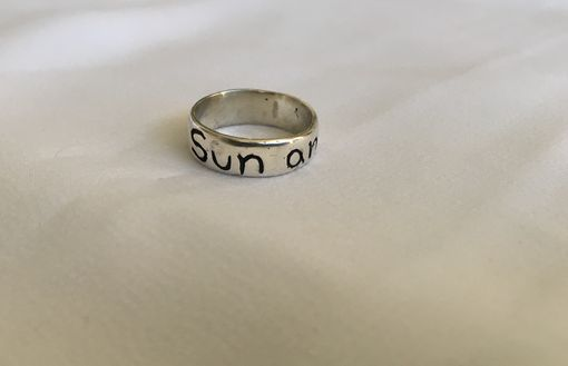 "Custom Made ""My Sun And Stars"" Hand Carved Ring"
