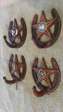 Custom Made Rustic Horse Shoe Hangers