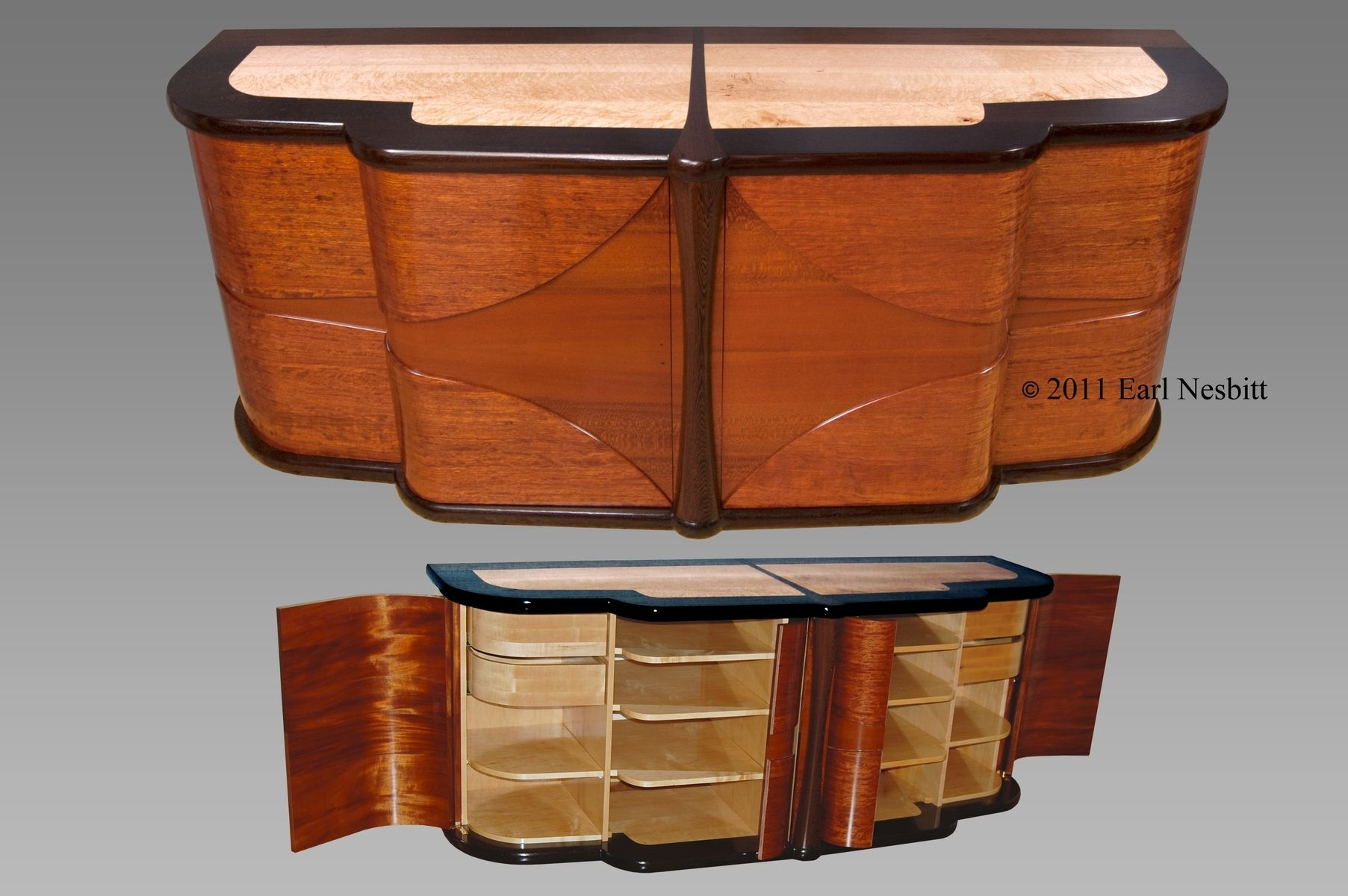 custom art deco media cabinet by earl nesbitt fine furniture