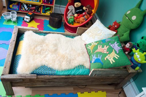 Custom Made Toddler Bed - Reclaimed Wood