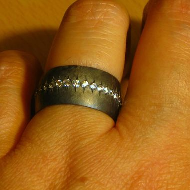 Custom Made Boyfriend Ring Sterling Silver And Cz