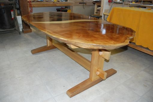 Custom Made Cedar Slab Table