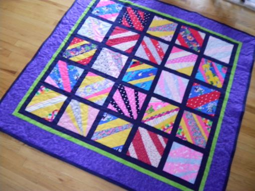 Custom Made Purple String Quilt