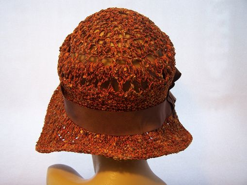 Custom Made Crochet Cloche Sunhat