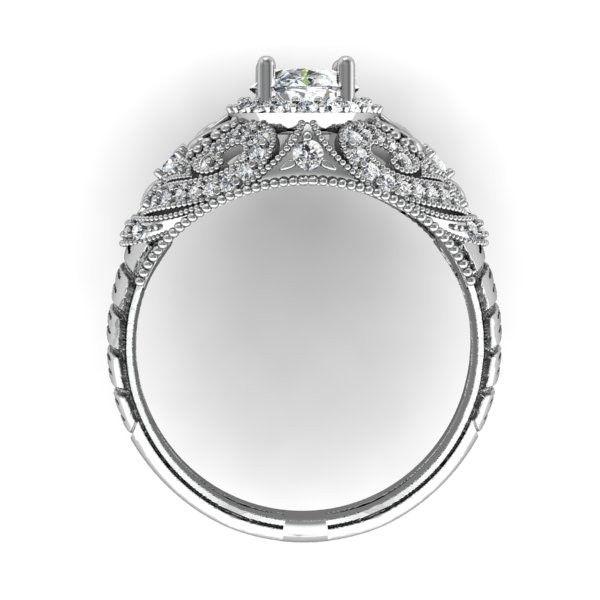 Custommade Diamond: Handmade Oval Diamond Filigree Cocktail Ring By Diamond