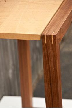Custom Made Floating Miter Hall Table