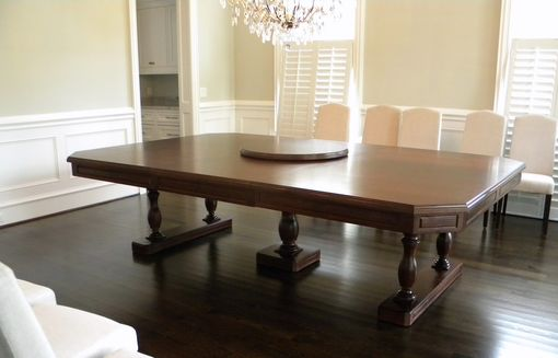 Custom Made Extra Large Walnut Extension Dining Table
