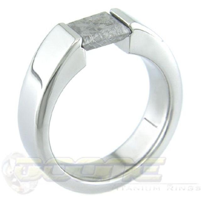 meteorite tension set - Meteorite Wedding Ring