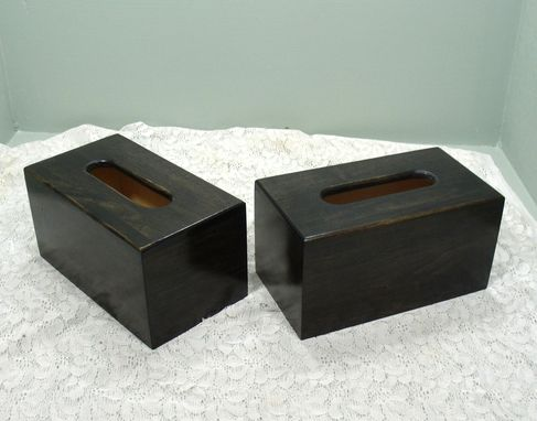 Custom Made Extra Large Tissue Box: Ebony